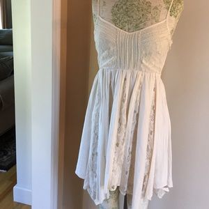 Gorgeous Cream Lace Slip Dress