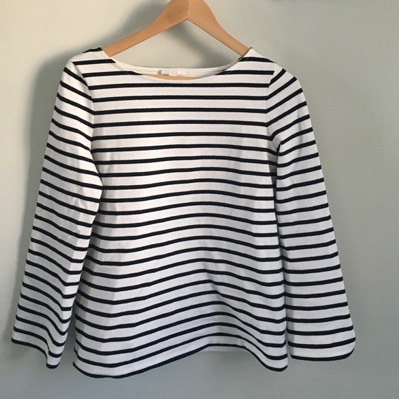 cos Tops - COS striped cotton tee.