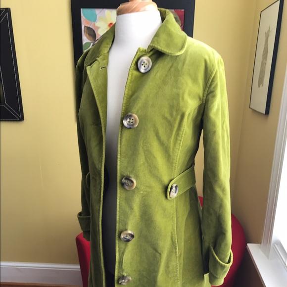 Boden Jackets Coats Green Velvet Coat Poshmark
