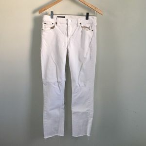 J. Crew petite Reid cone denim in white