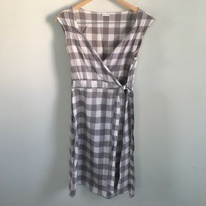 Rayon wrap dress