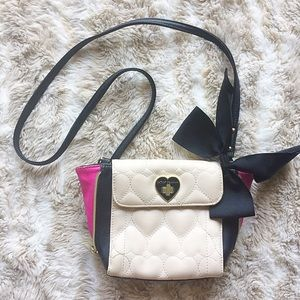 Betsey Johnson Quilted Heart Crossbody