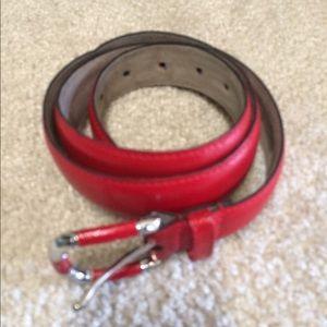 Red women belt