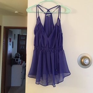 Do & Be Tops - NWOT Do & Be Blue Sheer Strappy Tank