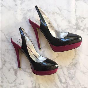 Shoedazzle Shoes - NWOT! Trendy Black and Purple Pumps