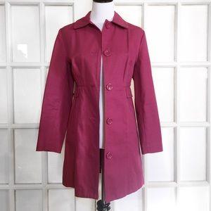 Valerie Stevens Jackets & Blazers - Valerie Stevens Mauve Trench Coat