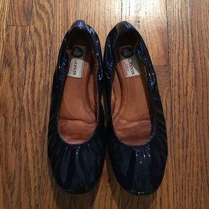 Lanvin Shoes - Lanvin Navy/black Patent Leather Ballet shoes