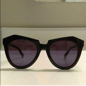 Karen Walker Accessories - Karen Walker Number One in black sunglasses