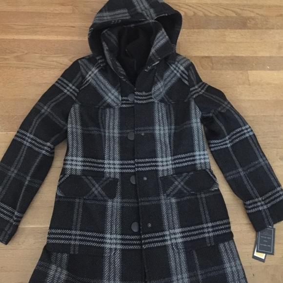 70c3a96917 NWT Fleet Street coat in plaid with fleece hood