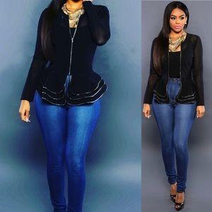 Jackets Blazers Women s Ruffled Jacket