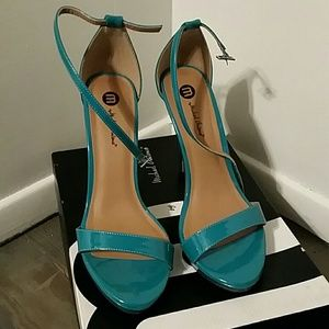 Michael Antonio Shoes - Aqua Teal Strappy Sandal