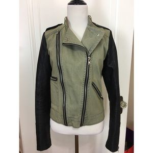 Members Only Moto Leather Jacket size Small