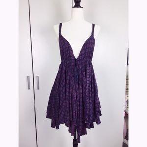 Free People Dresses & Skirts - Purple patterned Asymmetrical Free People Dress