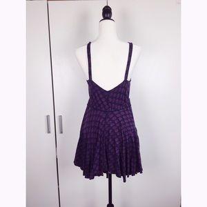 Free People Dresses - Purple patterned Asymmetrical Free People Dress