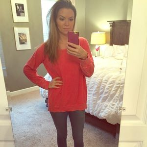 Jessica Simpson pink/coral maternity sweatshirt SM