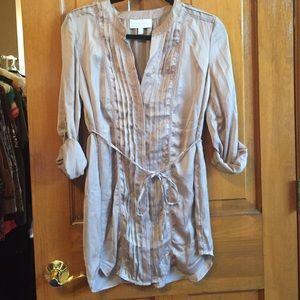 Maternity silk blouse