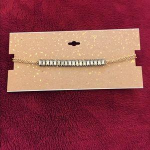 Kohls Jewelry - Gold & Rhinestone Choker Necklace