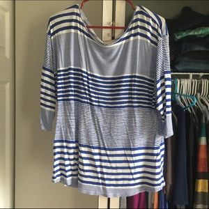 Stitch Fix Skies are Blue striped 3/4 sleeve
