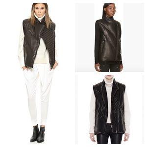 Helmut Lang Jackets & Blazers - NWT Helmut Lang Leather Asymmetric Zip Vest