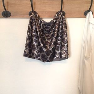 *LIKE NEW* EXPRESS Sequined Holiday Mini Skirt