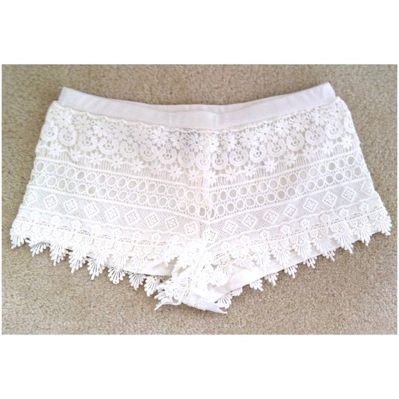 Hm Shorts Hm White Lace Crochet Poshmark