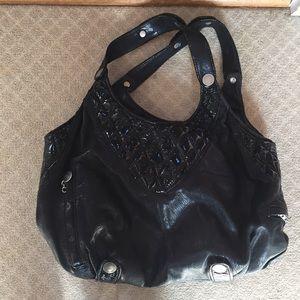 Gustto large leather shoulder bag