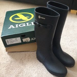 Aigle Shoes - Aigle Chantebelle Tall Rain Boots Size 38EU