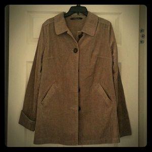 Taupe Corduroy Overcoat