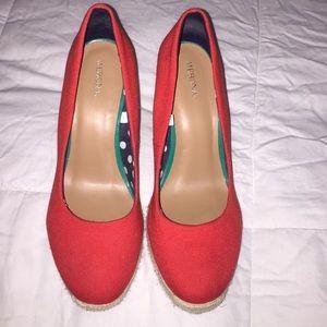 Red cloth Merona (target) wedges