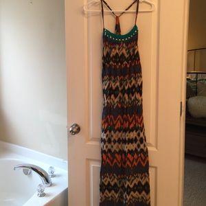 Mossimo print maxi dress