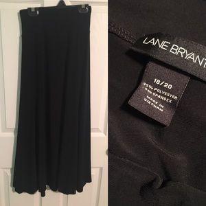 Lane Bryant Dresses & Skirts - Long Soft Black Maxi Skirt