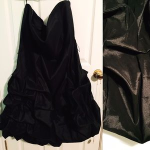 EUC Elegant Strapless Bubble Hem Dress