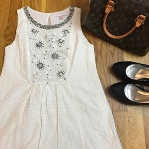 Rebecca Taylor Dresses & Skirts - 💕HP💕REBECCA TAYLOR Ivory Beaded Boho Dress