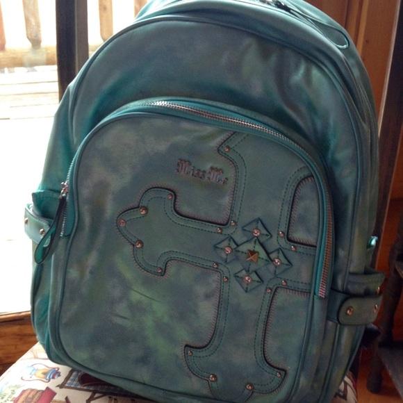 1e2e6232795c Blue Miss Me full size backpack. M 583c9a6f2fd0b7b6f111e025