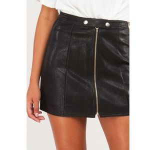 Faux Leather Skirt *NEW*