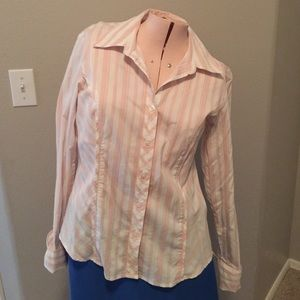 Style & Co. Striped blouse with sparkle