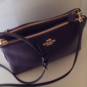 Coach Handbags - NWT Coach Pbl Lthr Lyla Crossbody Bag/Aubergine
