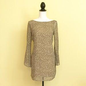 Lush Dresses & Skirts - LUSH Split Sleeve Leopard Chiffon Shift Dress