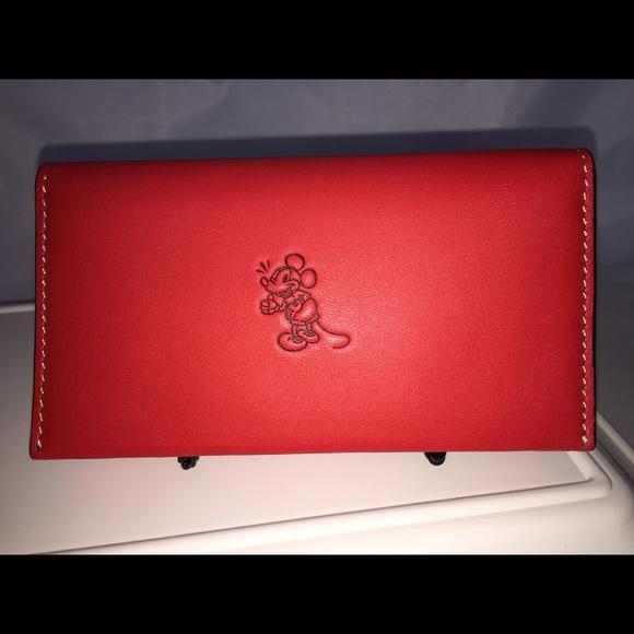 38157fa3 NWT DISNEY X COACH MICKEY Phone Wallet LMT EDITN NWT