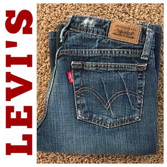 Levi's 518 superlow bootcut jeans juniors