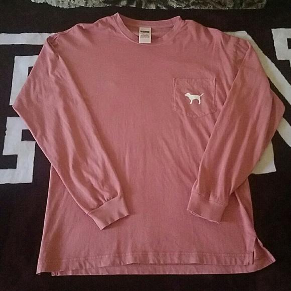 3207c712b5a9c Vs pink long sleeve campus tee. M 583ca7026a58303fbc121cb5