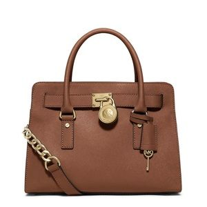 NEW Authentic Michael Kors Large Hamilton Satchel