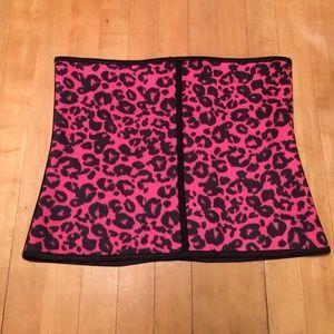 Ann Michell  Other - NWOT Hot Pink Leopard Waist Trainer!!