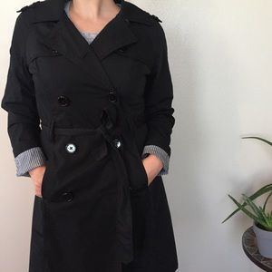 Jackets & Blazers - Black trench coat