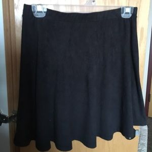 PacSun Dresses & Skirts - Black Faux Suede Material LA Hearts Skater Skirt