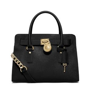 NWT Authentic Michael Kors Large Hamilton Satchel