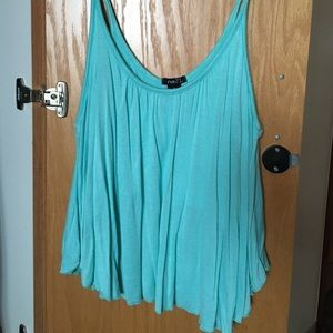 Turquoise Light Blue Tank Top