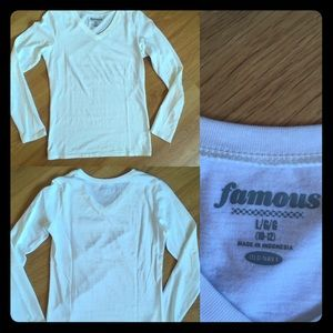 Old Navy Other - 🚚MAKE OFFERS🚚NWOT white long sleeve tee