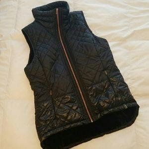 Mondetta  Jackets & Blazers - Black puffer vest with rose gold detail