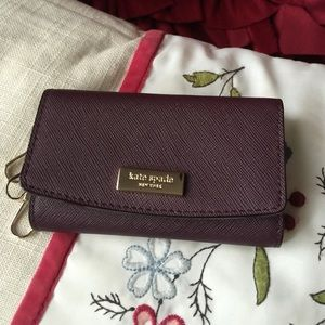 Hold ! NWT Kate spade key chain wallet case